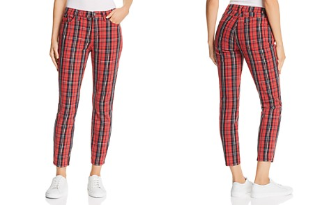 Current/Elliott The Stiletto High-Rise Skinny Jeans in Red Tartan Plaid - Bloomingdale's_2