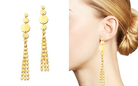 Moon & Meadow 14K Yellow Gold Disc Tassel Drop Earrings - 100% Exclusive - Bloomingdale's_2