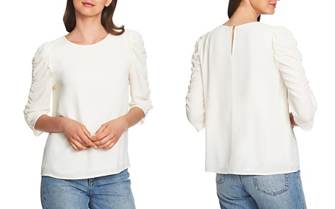 1.STATE Ruched-Sleeve Top - Bloomingdale's_2