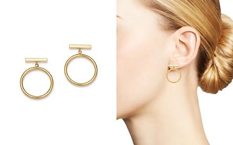 Bloomingdale's Circle Drop Earrings in 14K Yellow Gold - 100% Exclusive_2