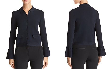 Emporio Armani Cropped Flared Cuff Jacket - Bloomingdale's_2