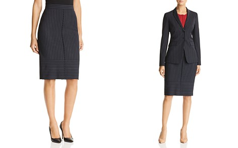 BOSS Vunka Pinstriped Pencil Skirt - Bloomingdale's_2