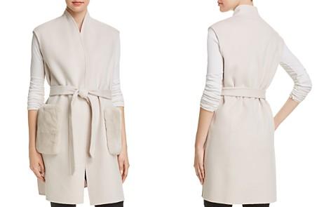 Elie Tahari Deanna Fur-Trimmed Wrap Vest - Bloomingdale's_2