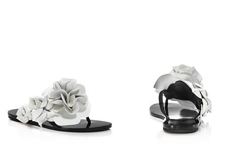 Sophia Webster Women's Jumbo Lilico Flower Open Toe Leather & Suede Slide Sandals - Bloomingdale's_2