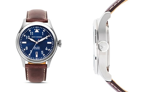 Jack Mason Aviation Leather Watch, 42mm - Bloomingdale's_2