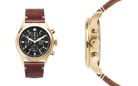 Jack Mason Aviation Leather Chronograph, 42mm - Bloomingdale's_2