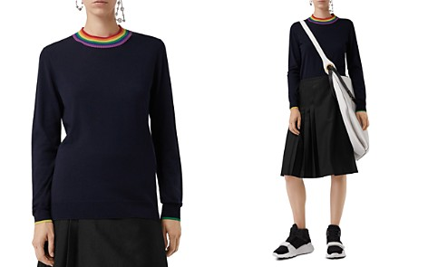 Burberry Dales Wool Rainbow-Collar Sweater - Bloomingdale's_2