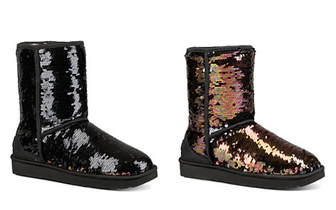 UGG® Women's Classic Round Toe Sequin Short Boots - Bloomingdale's_2