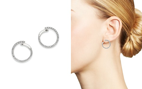 Bloomingdale's Diamond Front-to-Back Hoop Earrings in 14K White Gold, 0.60 ct. t.w. - 100% Exclusive_2