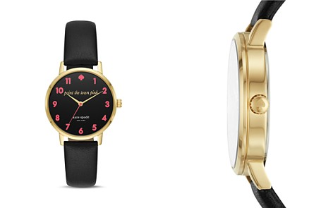 kate spade new york Metro Black Leather Strap Watch, 34mm - Bloomingdale's_2