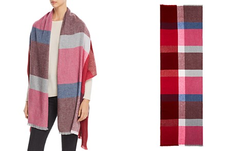 AQUA Color-Block Herringbone Wrap - 100% Exclusive - Bloomingdale's_2