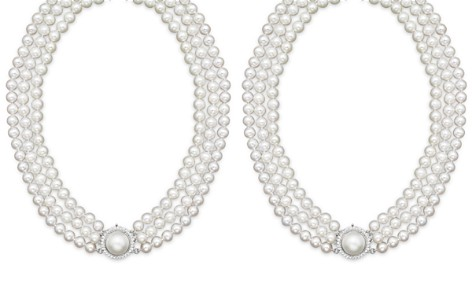 "Cultured Freshwater Pearl Necklace with Diamond Accents, 16"" - Bloomingdale's_2"