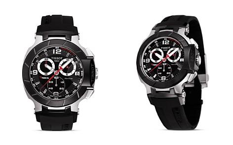 Tissot T-Race Men's Black Quartz Chronograph Rubber Strap Watch, 50mm - Bloomingdale's_2