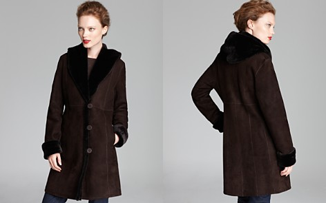 Maximilian Shearling Shawl Collar Coat - Bloomingdale's_2