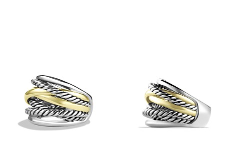David Yurman Crossover Wide Ring with Gold - Bloomingdale's_2