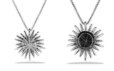 David Yurman Starburst Medium Pendant with Diamonds on Chain - Bloomingdale's_2