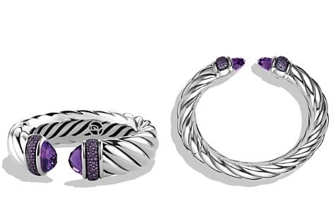 David Yurman Waverly Bracelet with Amethyst & Purple Sapphires - Bloomingdale's_2