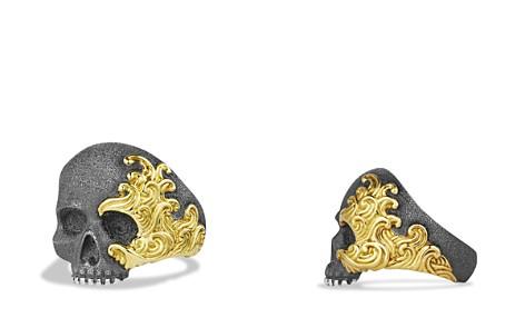 David Yurman Waves Large Skull Ring with Gold - Bloomingdale's_2