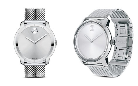 Movado BOLD Stainless Steel and Silver Tone Sunray Dial Watch, 44mm - Bloomingdale's_2