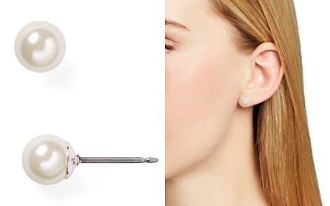 Lauren Ralph Lauren Imitation-Pearl Stud Earrings, 6mm - Bloomingdale's_2