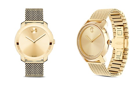 Movado BOLD Mid Size Yellow Gold Ion-Plated Watch, 36mm - Bloomingdale's_2
