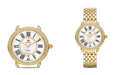MICHELE Serein 16 Diamond & Gold Watch Head, 34 x 36mm - Bloomingdale's_2