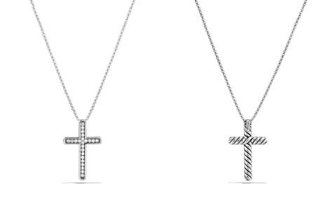 David Yurman Petite Pavé Cross Necklace with Diamonds - Bloomingdale's_2