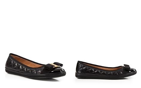 Salvatore Ferragamo Women's Rufina Quilted Cap Toe Leather Sneaker Flats - Bloomingdale's_2