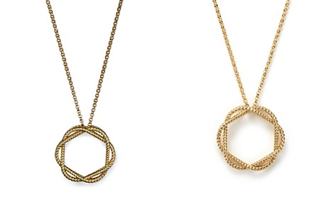 "Roberto Coin 18K Yellow Gold Medium Twisted Circle Pendant Necklace, 16"" - Bloomingdale's_2"