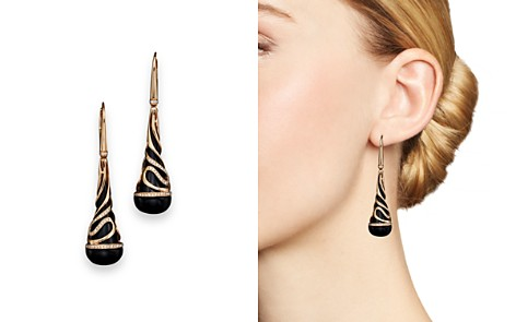 Diamond and Black Onyx Drop Earrings in 14K Rose Gold, .35 ct. t.w. - 100% Exclusive - Bloomingdale's_2