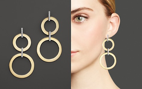 Roberto Coin 18K Yellow and White Gold Diamond Round Drop Earrings - Bloomingdale's_2