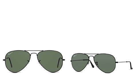 Ray-Ban Polarized Classic Aviator Sunglasses, 58mm - Bloomingdale's_2