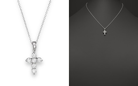 in diamond treasures chains pendant small tiny collection necklace roberto gold coin cross white faith