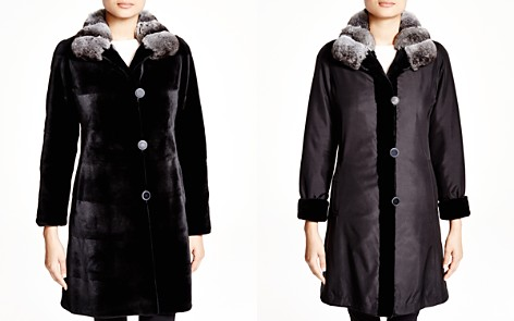 Maximilian Sheared Kopenhagen Mink Reversible Coat with Chinchilla Collar - 100% Exclusive - Bloomingdale's_2