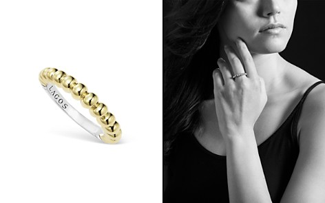 LAGOS Sterling Silver and 18K Gold Fluted Stacking Ring - Bloomingdale's_2