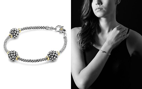 LAGOS Sterling Silver Bracelet with Caviar Stations - Bloomingdale's_2
