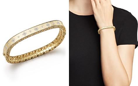 Roberto Coin 18K Yellow Gold and Diamond Princess Bangle - Bloomingdale's_2