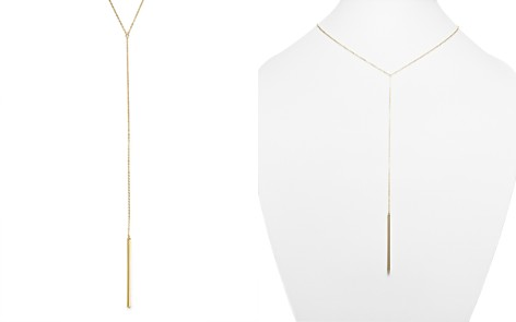 """14K Yellow Gold Bar Drop Necklace, 18"""" - 100% Exclusive - Bloomingdale's_2"""