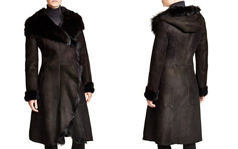 Maximilian Hooded Shearling Coat with Toscana Collar - 100% Exclusive - Bloomingdale's_2