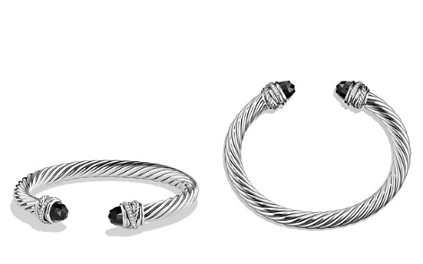 David Yurman Crossover Bracelet with Diamonds and Black Onyx in Silver - Bloomingdale's_2