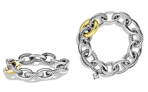 David Yurman Oval Chain Extra-Large Link Bracelet with Gold - Bloomingdale's_2
