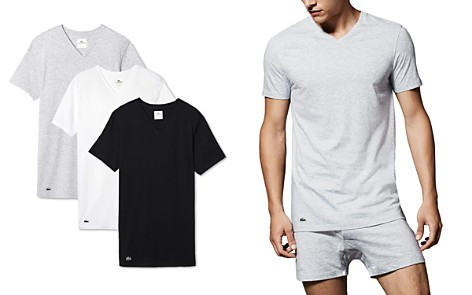 Lacoste Cotton V-Neck Tee, Pack of 3 - Bloomingdale's_2