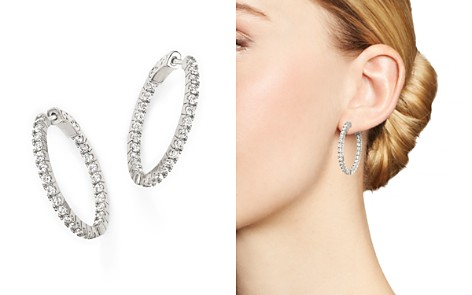 Diamond Inside Out Hoop Earrings in 14K White Gold, 1.50 ct. t.w. - Bloomingdale's_2