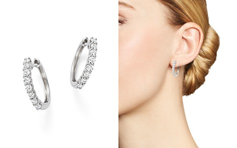 Diamond Hoop Earrings in 14K White Gold, 0.60 ct. t.w. - 100% Exclusive - Bloomingdale's_2