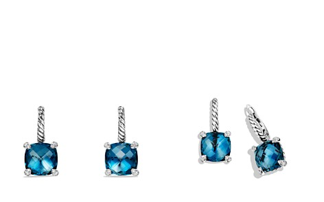 David Yurman Châtelaine Drop Earrings with Hampton Blue Topaz and Diamonds - Bloomingdale's_2