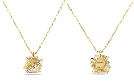 David Yurman Cable Wrap Necklace with Champagne Citrine & Diamonds in 18K Gold - Bloomingdale's_2