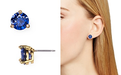 with sapphire blue cut halo oval reuven product gitter earrings diamond saphire