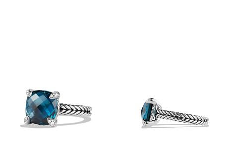 David Yurman Châtelaine Ring with Hampton Blue Topaz and Diamonds - Bloomingdale's_2