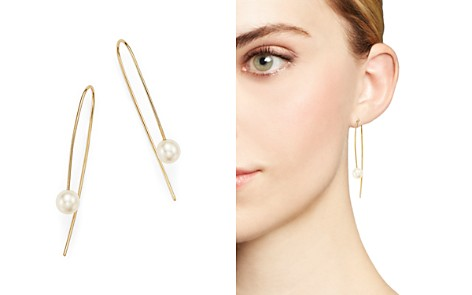 Zoë Chicco 14K Yellow Gold Wire Earrings with Cultured Freshwater Pearls - Bloomingdale's_2