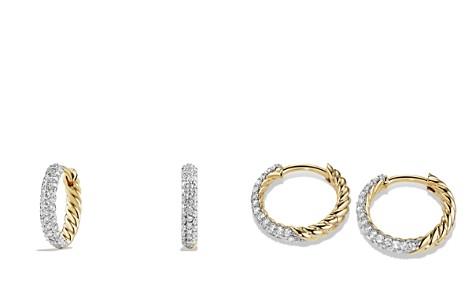 David Yurman Petite Pavé Earrings with Diamonds in 18K Gold - Bloomingdale's_2